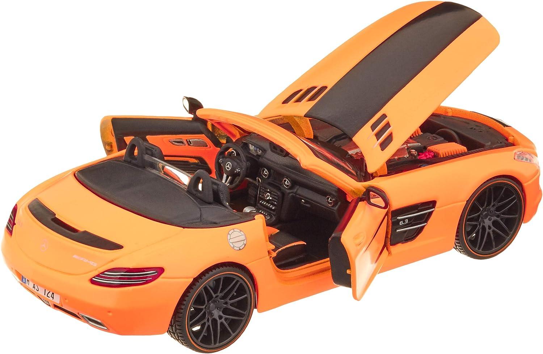 Maisto 31370 Coche de Juguete Design Exotics Outlaws Mercedes-Benz AMG Roadster Escala 1//24 Color Rojo