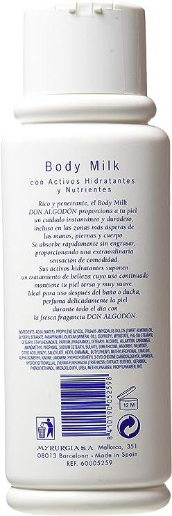 Don Algodón, Crema corporal - 500 ml.: Amazon.es: Belleza