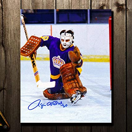 free shipping 29933 78a30 Rogie Vachon Los Angeles Kings GLOVE SAVE Autographed 8x10 ...