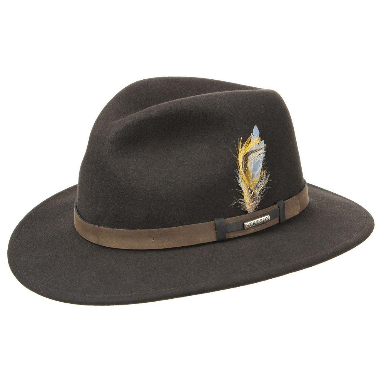 Stetson Sardis VitaFelt Traveller Hat hats leather band