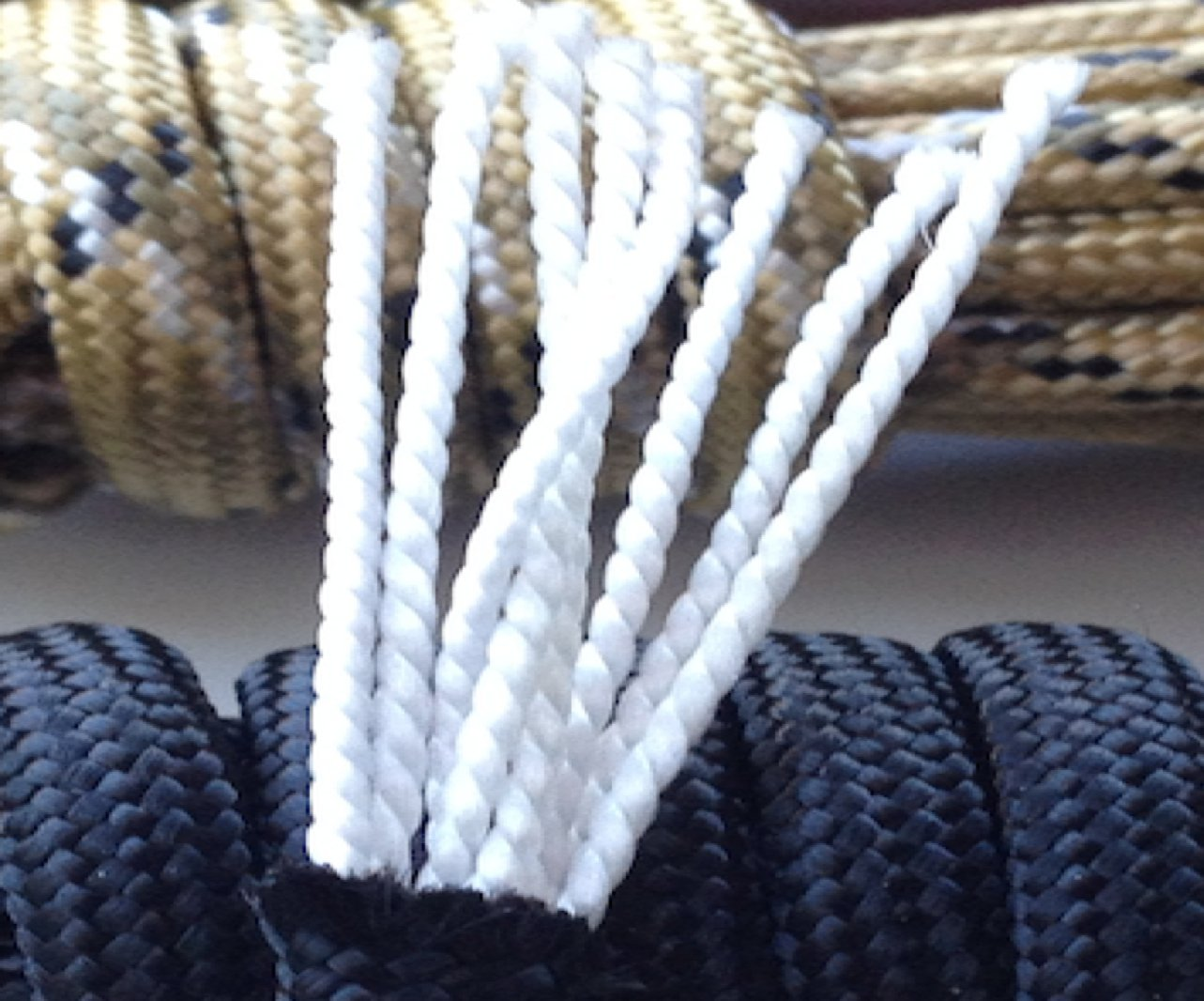 X-CORDS Paracord 850 Lb Stronger Than 550 and 750 Made by Us Government Certified Contractor (100' Black ON Spool) by X-CORDS (Image #5)