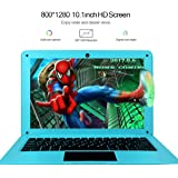 HSW 10.1-inch Windows 10 Laptop Network with Intel Atom Z8350 1.44GHz Quad Core Processor,2GB RAM, 32GB Storage, Support WiFi,HDMI,Camera and 128GB TF Card Extension Computer (Blue)