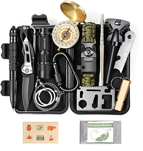 Gifts For Dad Fathers Day Gifts Stocking Stuffers Gifts for Teens Boys - Cool Unique Gadget Christmas Gifts Ideas for Men Him Boyfriend - Survival Kit Gear for Fishing Hunting Camping Hiking