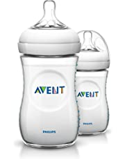 Philips Avent SCF693/27 - Biberón Natural, Translúcido, 9oz/260ml Two Pack