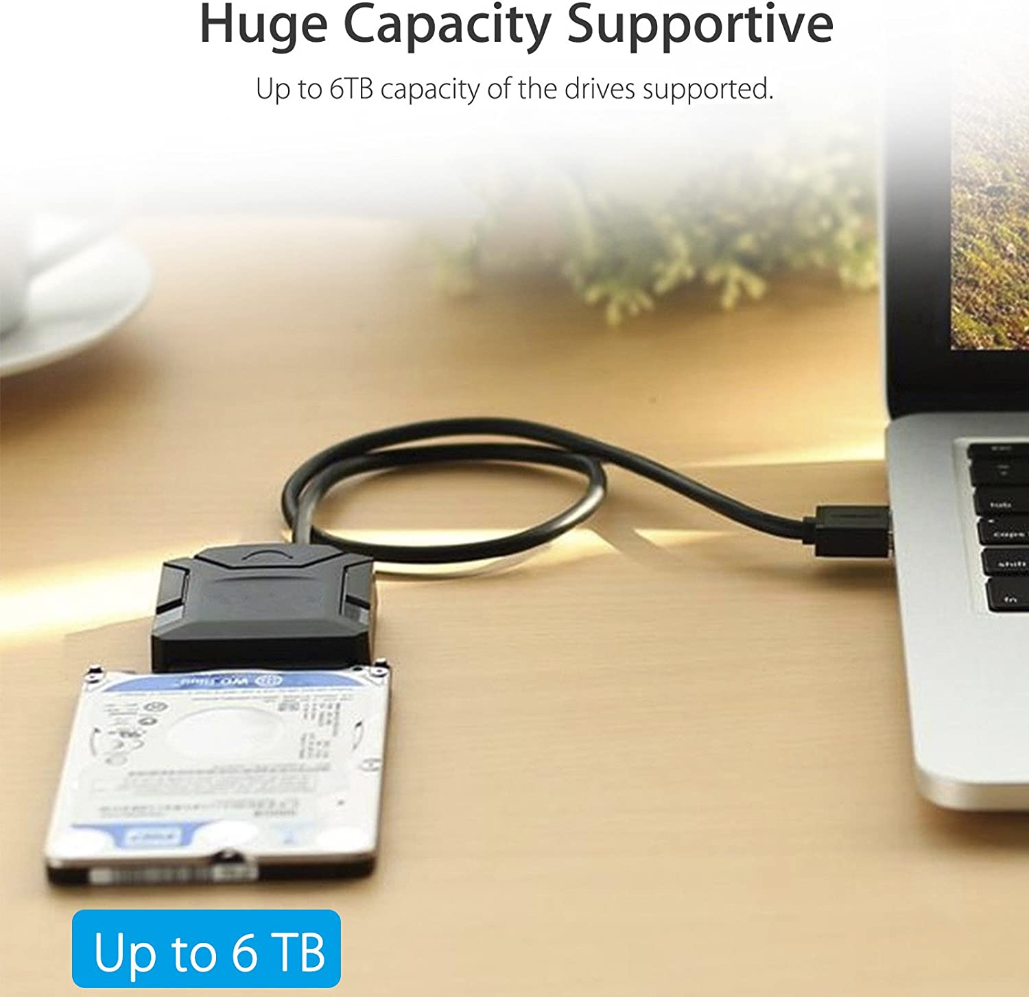 EEEkit USB 3.0 to 2.5inch SATA Cable HDD SSD Hard Drive Adapter Cable with UASP Converter for Windows 98 2000 XP Vista 8 10 Mac OS