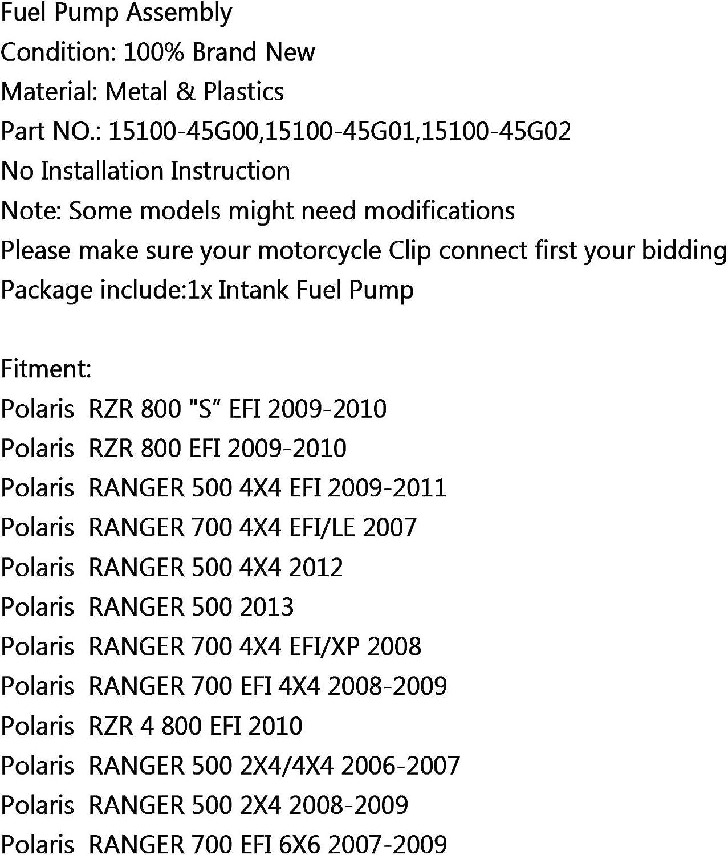Artudatech Bomba de Combustible Moto Electrica Bomba de Gasolina Combustibles Inyeccion Fuel Pump para Polaris RZR 800 S EFI 09-10 700 4X4 EFI//LE 500 2X4 2006
