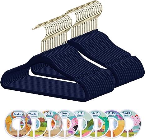 baby coat hangers blue