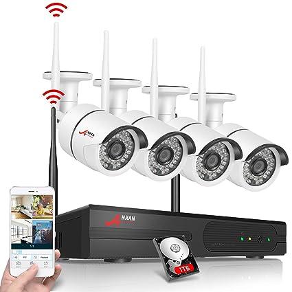 ANRAN Kit de 4 cámaras de vigilancia WIFI Sistema de cámaras de seguridad - 4CH 1080P