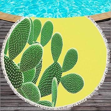 STJDM Toalla de Playa Toalla de Playa Cactus Impresión ...