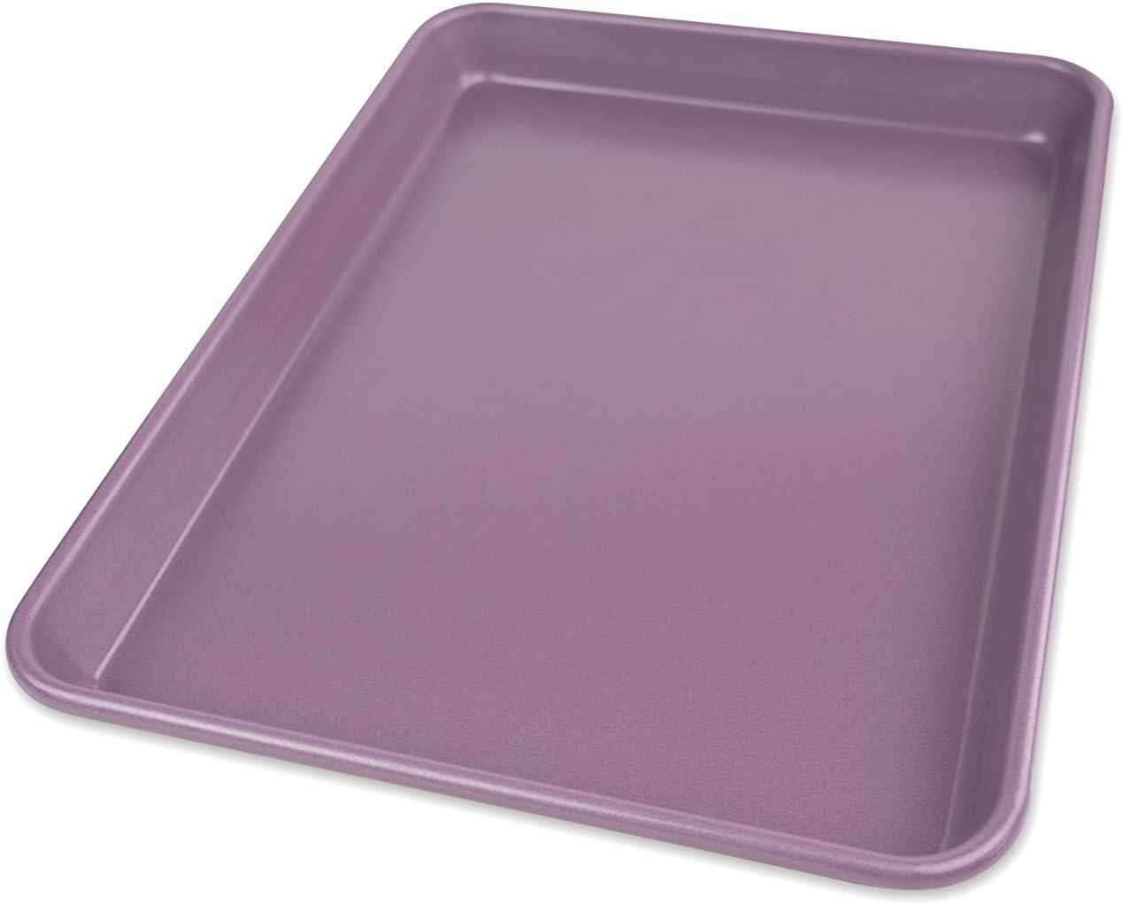 USA Pan Allergy Id Nonstick Quarter Sheet Baking Pan, Purple