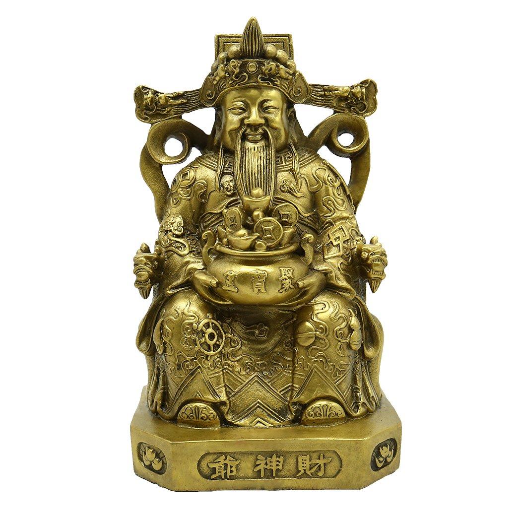 財運 の神  お金を贈る神様 精铜工芸  風水グッズ 縁起物 真鍮工芸品 開運 高級風水アイテム B06XQY3TFD