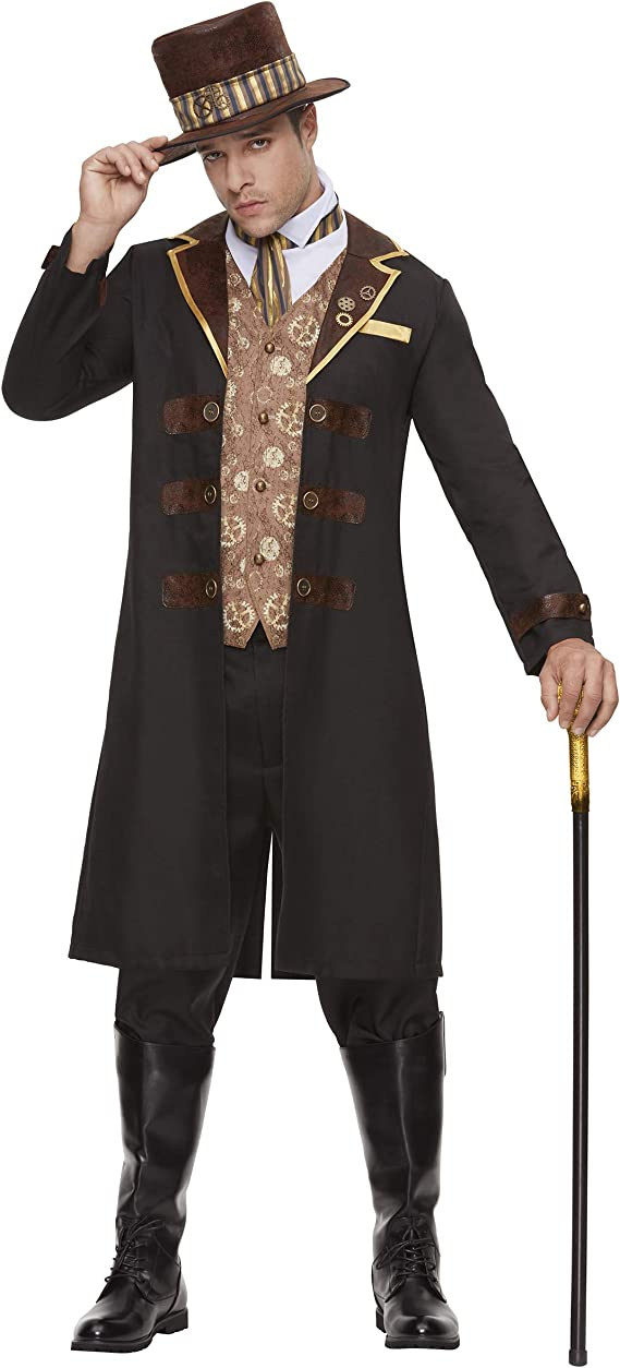 Men's Steampunk Clothing, Costumes, Fashion Spirit Halloween Adult Dapper Steampunk Costume $59.99 AT vintagedancer.com
