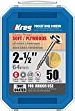 Kreg SML-C250-50 2-1/2-Inch #8 Coarse Washer-Head Pocket Screws, 50 Count