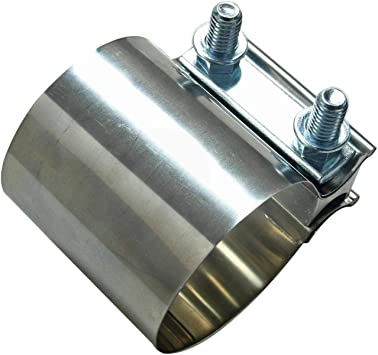 SUPERFASTRACING 4inch Butt Joint Band Exhaust Clamp T304 Stainless Steel for Catback Muffler