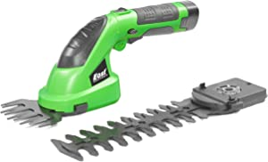 East 2 in 1 Cordless Grass Shears, Hedge Trimmer, Electric Pruning Shears, 7.2v Charger and Battery Included