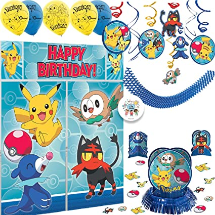 Amazon.com: Deluxe Pokemon Birthday Party Decorations Pack ...