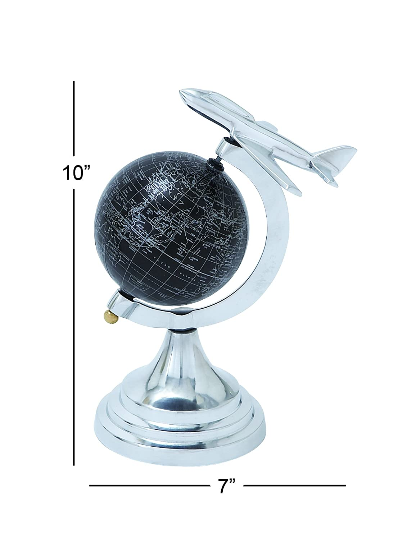 10 x 7 10 x 7 UMA Enterprises Deco 79 28351 Aluminum Globe