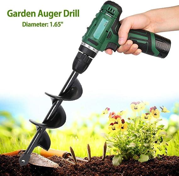 Earth Auger Yard Garden Planting Planter Auger Hole Digger Spiral Drill Bit