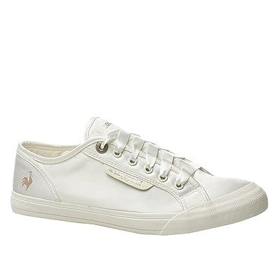 abb5d7480a1 Le Coq Sportif Deauville Plus Satin 1210165 Femme Chaussures Antiquaires  Blanc