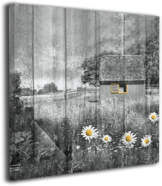 WHITE DAISIES CANVAS PICTURE PRINT WALL ART HOME DECOR FREE DELIVERY