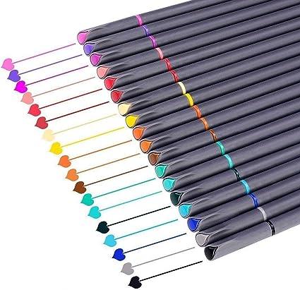 6 PC Pack surtido colores pintura//Dibujo//Pintura Con Punta De Fibra Colorante plumas