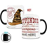 Morphing Mugs Personalized Harry Potter Gryffindor Sorting Hat Heat Reveal Ceramic Coffee Mug - 11 Ounces - ADD YOUR OWN NAME TO YOUR HOGWARTS HOUSE!
