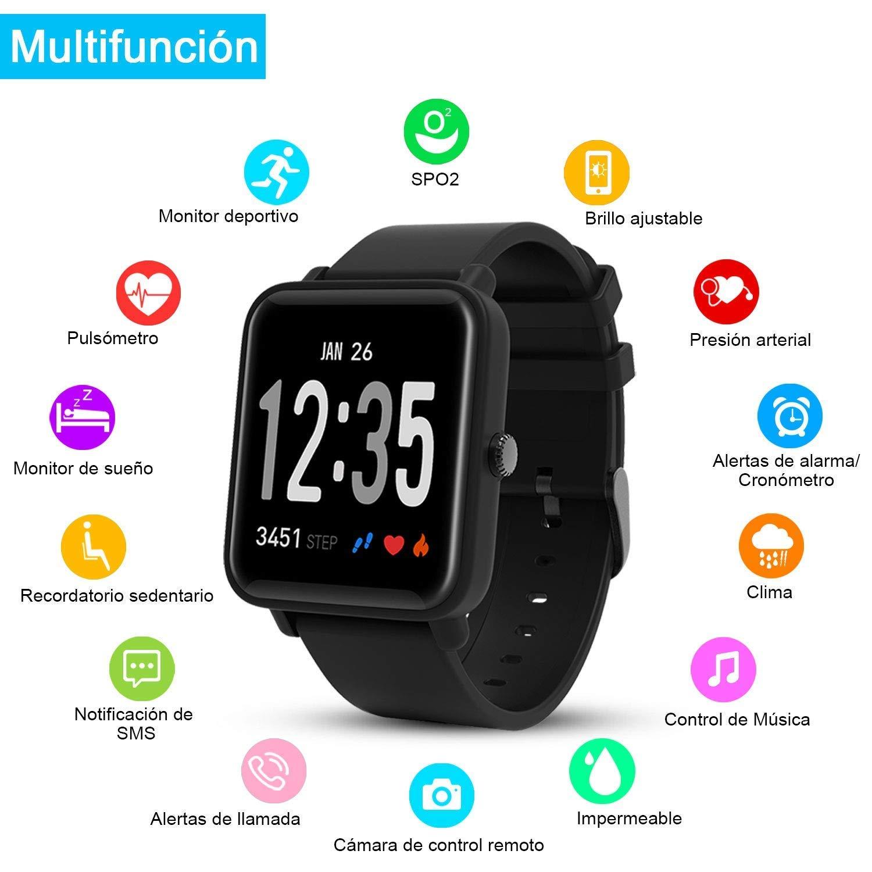 Macrourt Smartwatch Inteligente,IP68 Impermeable Reloj Deportivo ...
