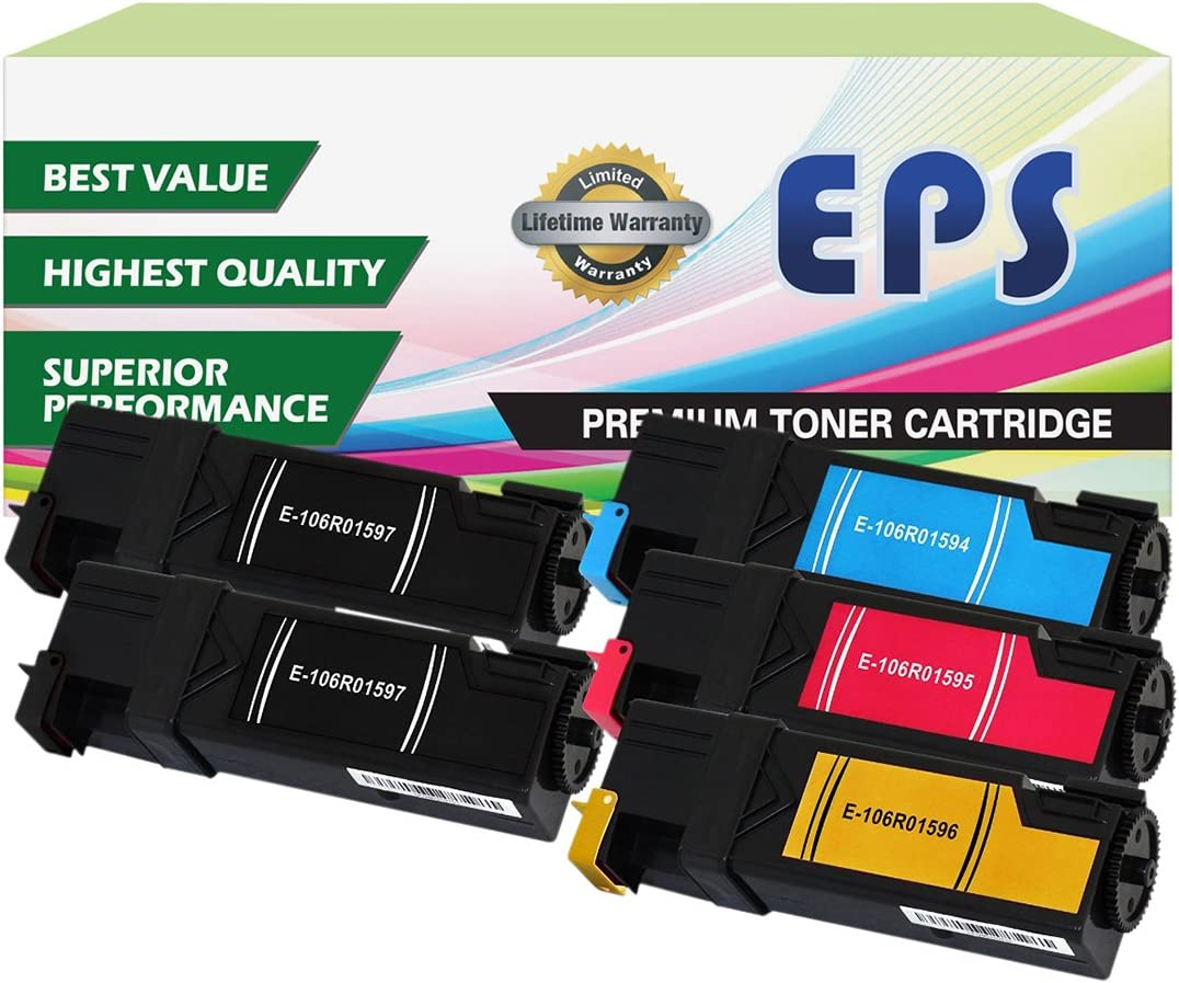 Phaser 6500N WorkCentre 6505N 2 BK, 1 Cyan, 1 Magenta, 1 Yellow WorkCentre 6505 EPS Replacement 5PK Toner Set for Phaser 6500 WorkCentre 6505DN Phaser 6500DN