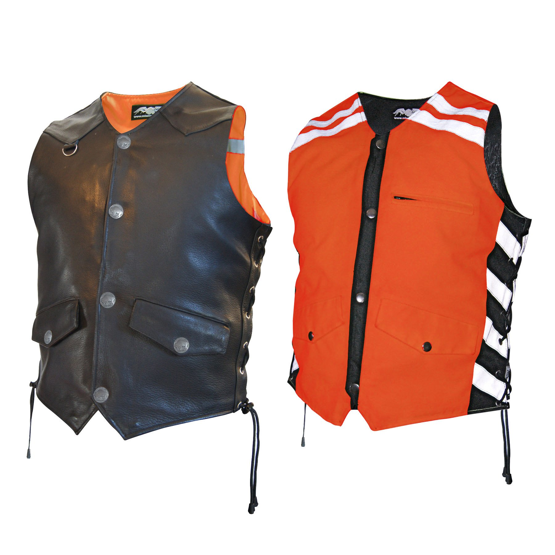 Missing Link Men's G2 D.O.C. Reversible Safety Vest (Black/Orange, Medium)