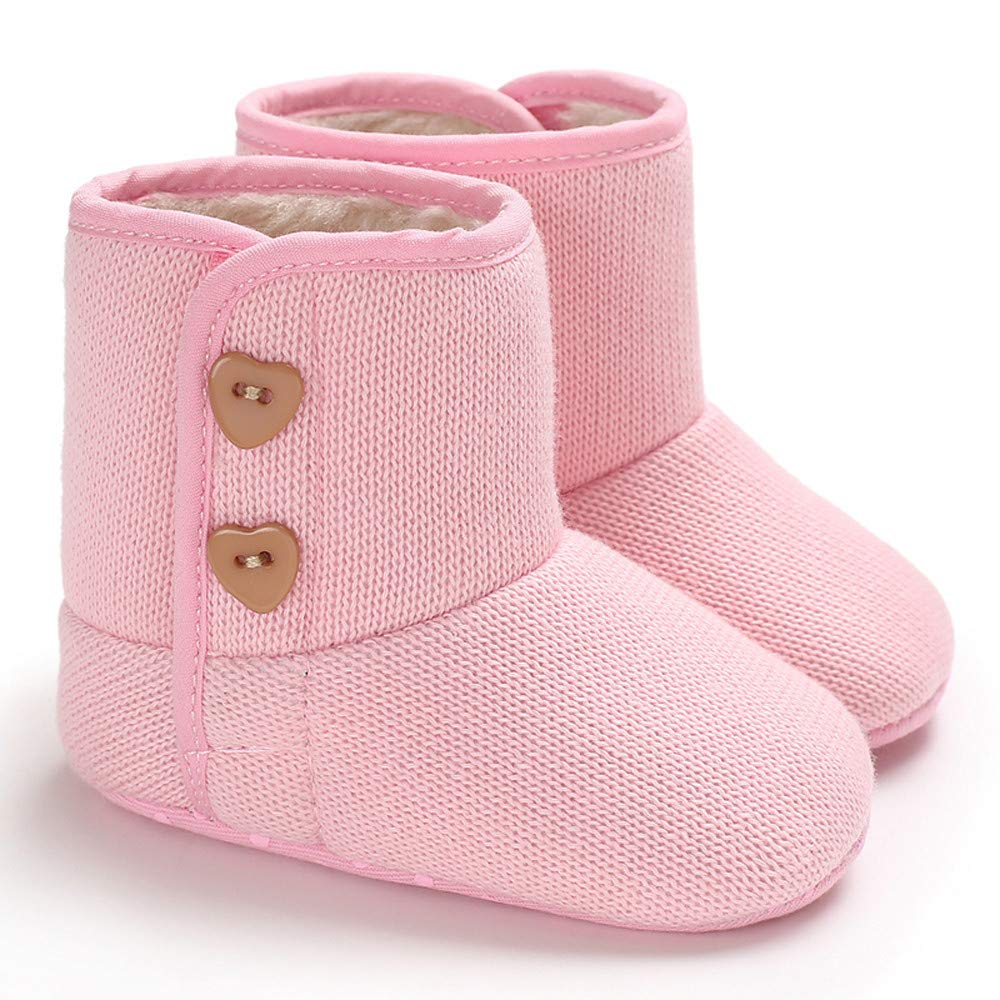 Baby Warm Boots Toddler Shoes Infant Newborn Baby Girls Cashmere Winter Button Boots Prewalker Warm Shoes