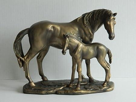 Reflections Bronzed Horse Stallion Gift Figurine Ornament Figure