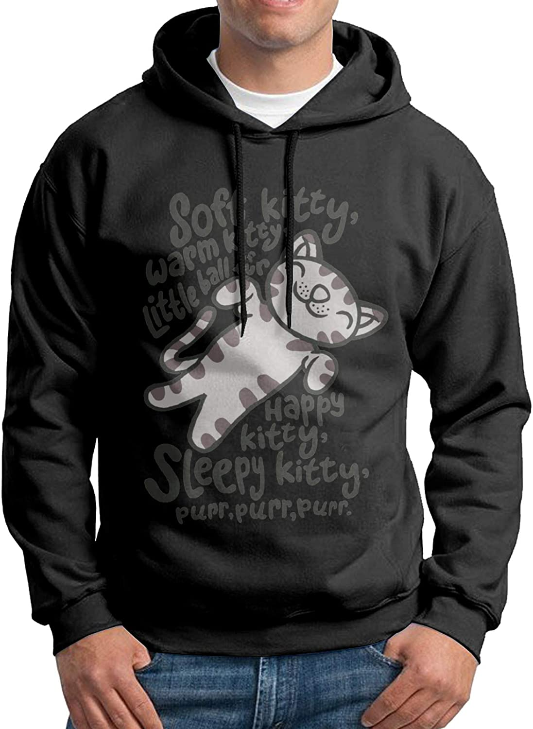 Fashion The Big Bang Theory Soft Kitty Men's Autumn and Winter Warm Hoodies Casual Long-Sleeved Sweaters Running Sweatshirts