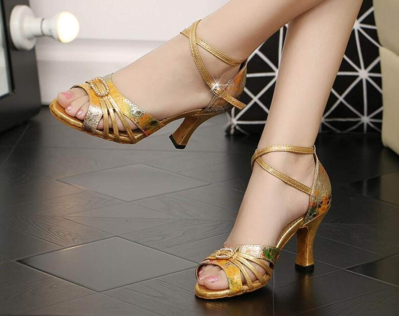 HhGold Lateinamerikanische Tanzschuhe für für für Damen Standard-Ballsaal-Salsa-Sportschuhe GelbHeeled7.5cm-UK4   EU35   Our36 (Farbe   Gelbheeled6cm Größe   UK3.5 EU34 Our35) 61a9b8