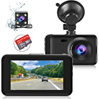 Front and Rear Dash Cam with SD Card [32GB Class 10], Dashcam Full HD 1080P in Car Camera WDR Dashcams for Cars, 170…