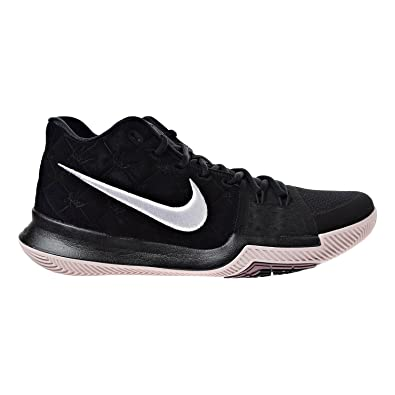 7a09348cb6d3 Nike Kyrie 3 Basketball Shoes Mens Kyrie Irving Black White-Silt Red New  852395