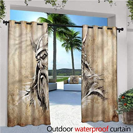 Amazon.com: warmfamily Viking Outdoor Blackout Curtains ...