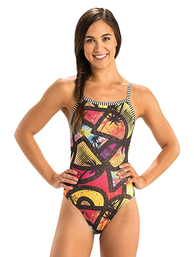 9a5a15132c5 Amazon.com : Dolfin Women's Uglies String Back ONE-Piece SWIMSUIT-9501L :  Sports & Outdoors