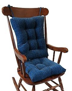 The Gripper Non-Slip Polar Jumbo Rocking Chair Cushions, Sapphire