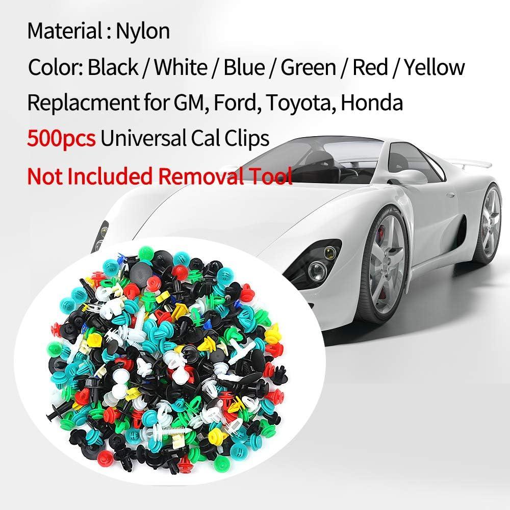 Replacment for GM Ford Toyota Honda Bumper Clips OTUAYAUTO 500PCS Universal Car Clips Door Panel Clip Plastic Car Fasteners Automotive Push Pin