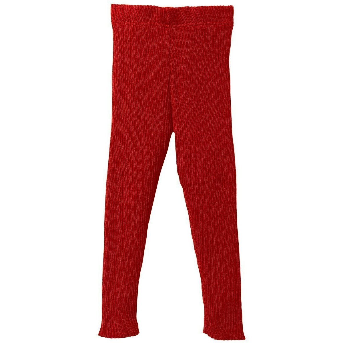 Disana 100% Organic Merino Wool Knitted Leggings Made in Germany (9-10 Years, Red)