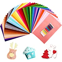 SOLEDì Feltro in Fogli 41 Colori 20*30 cm Feltro e Pannolenci Feltro Tessuto Usato per DIY Mestieri Ornamento di Natale Artigianato per Bambini con Bobina di Filo Tre Dimensioni