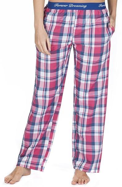 Forever Dreaming - Pantalón de pijama - Mujer rosa Pink Tartan Check M