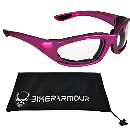 cc5e275b2afe Image Unavailable. Image not available for. Color  Pink Motorcycle Safety  Glasses ...