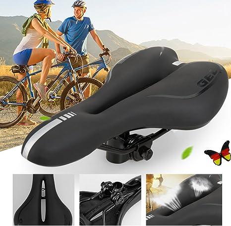 ondeni® Diseño 28 x 16 cm comodidad – Sillín de bicicleta/bicicleta Asiento/KT de Sports – Sillín de bicicleta/Sillín Fundas/bicicleta de asiento/Sillín de bicicleta/MTB Sillín/Mountain Bike de sillín: Amazon.es: Deportes y aire libre