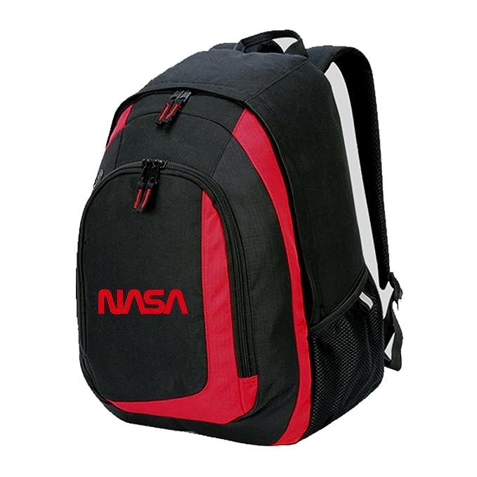 NASA Bolsa Mochila Mochila Hipster Retro Espacio Parte Superior Geek Nerd Lema Extranjero Tumblr Blacks Print :Red Talla única: Amazon.es: Ropa y accesorios