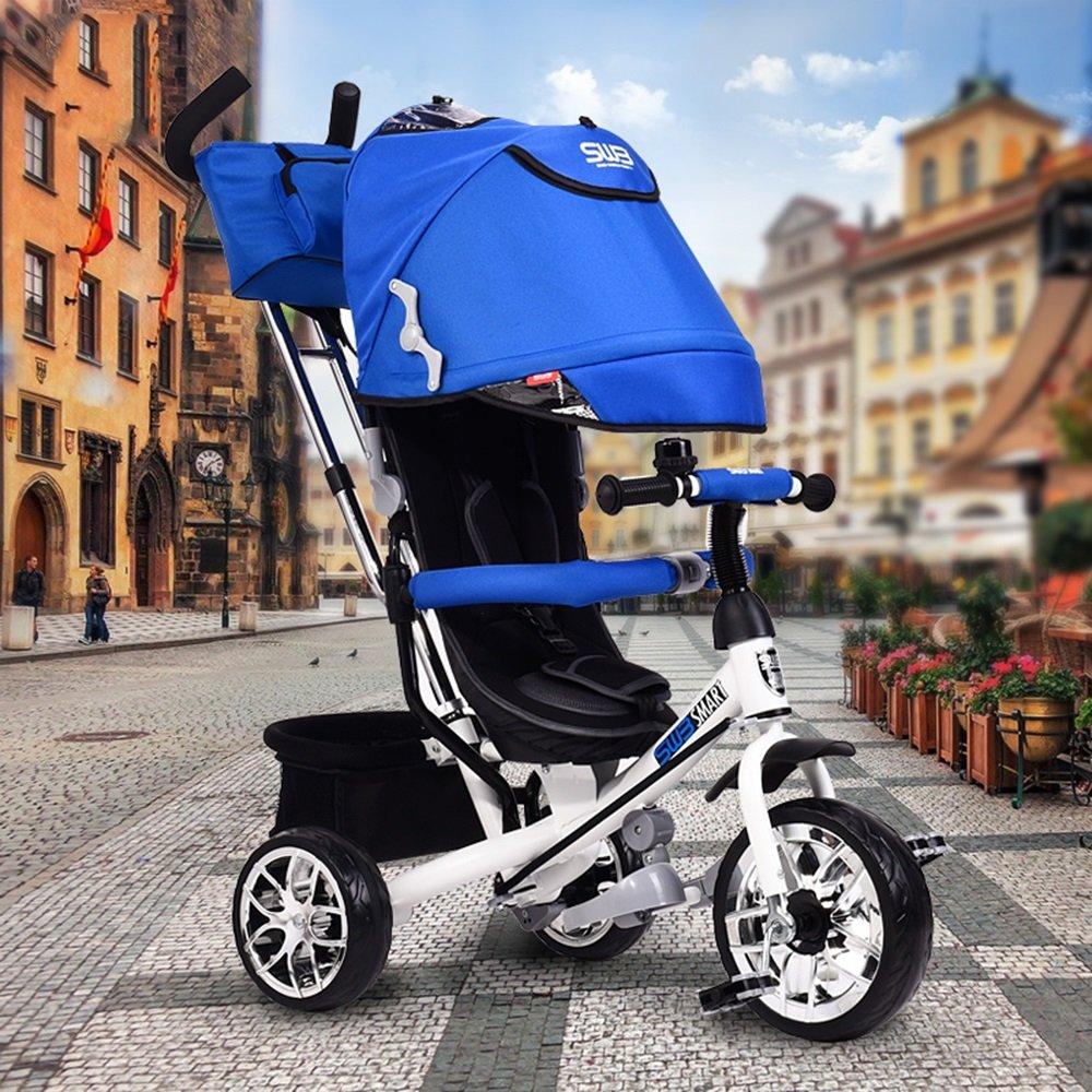 Childrens bike Niños Triciclo Pedal, Carrito de bebé, Cochecito de bebé, Coche de Juguete, Bicicleta para Niños (Color : Purple): Amazon.es: Hogar