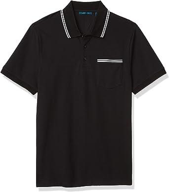 Perry Ellis Men's Pique Chest Pocket Short Sleeve Polo Shirt