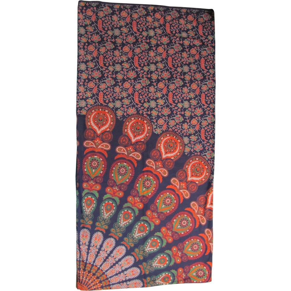 Bohemian Peacock Paisley Print Cotton Bedspread Bedding 3 Pcs Set King Size by Padma Craft (Image #5)