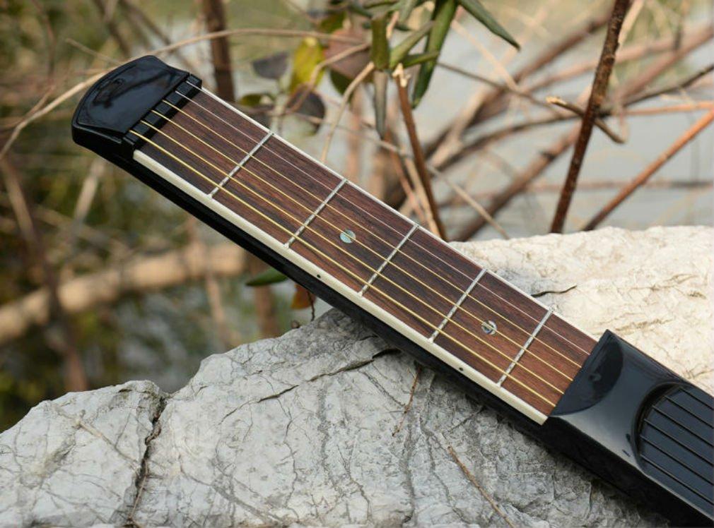 Skyreat Portable Pocket Guitar Practice Tool Gadget 6 String 4 Fret