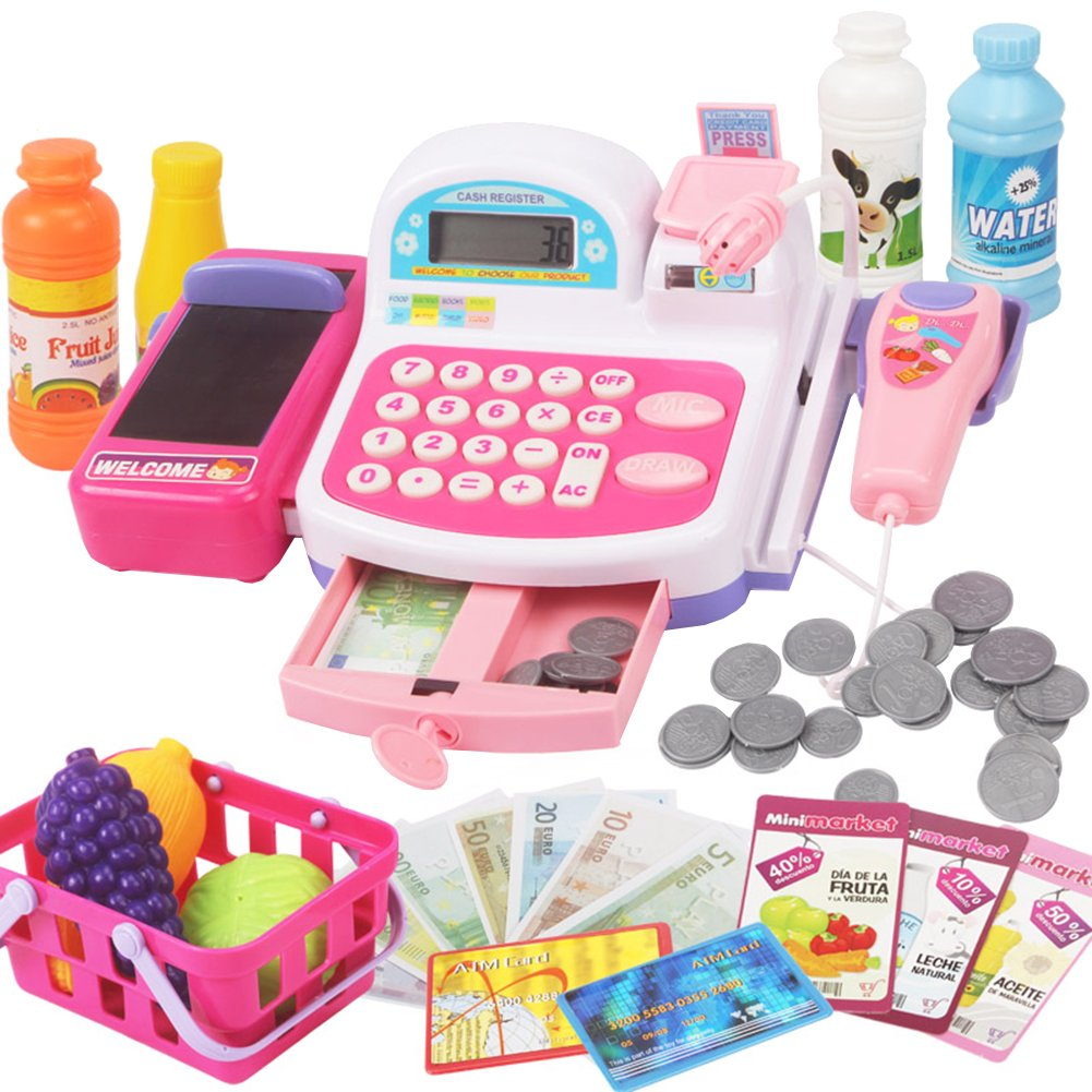 Girls Play House Simulation Toy Cash Register Set